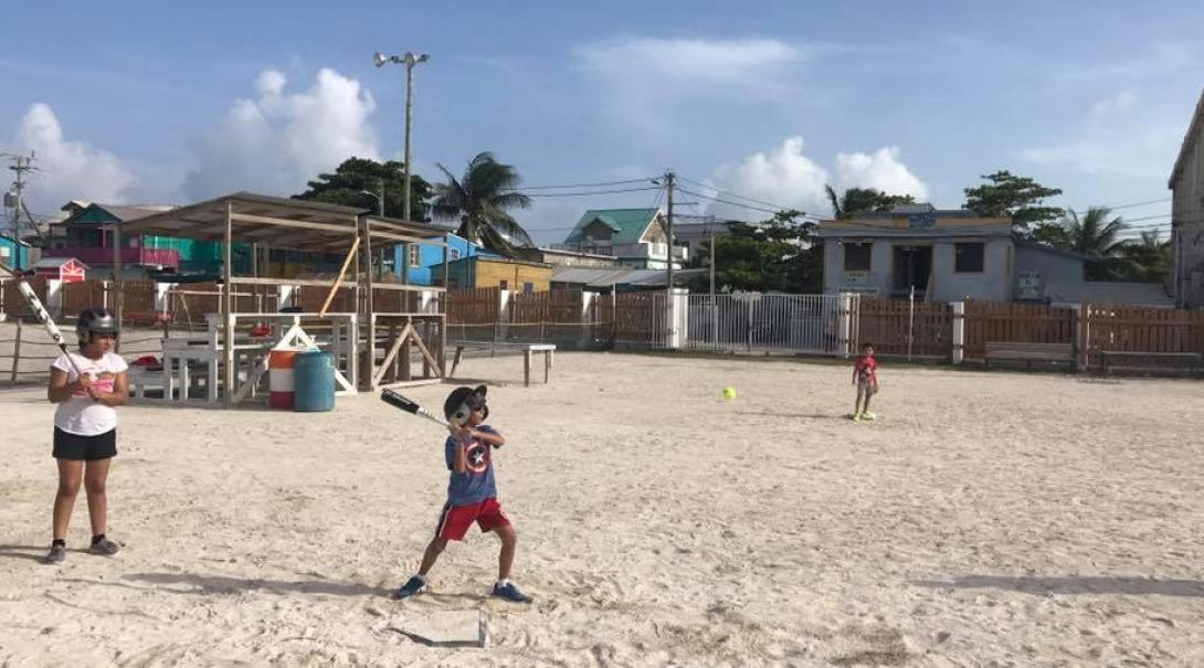 A volunteer gains sports coaching work experience in Belize by organising a baseball game